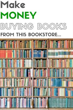This make take you by surprise, but you can make money buying books from a bookstore and reselling them online. Read this short article on how I've made money at one particular bookstore by buying and selling books and how you can too! Ways To Earn Money, Earn Money From Home, Earn Money Online, Online Jobs, Way To Make Money, Work From Home Opportunities, Extra Money, Good Books, Saving Money