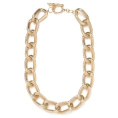 Gold Rope Chain ($32) ❤ liked on Polyvore