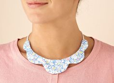DIY scalloped necklace