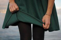 Vintage style! Handmade retro 50s wool skirt - Handmade hem