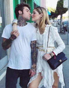 181e7e8e51f Spott - Chiara Ferragni wears a gold letter charm belt by Chanel and a  white dress by Philosophy di Lorenzo Serafini