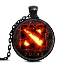 2017 New Chain Dota 2 Necklace Collares Glass game necklaces Statement Necklace Pendant For Men Women friends Gift Steampunk #Affiliate