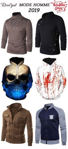 T shirt manches longues pour homme Hoodie style original Veste élégant de  printemps pour homme   3268aa25aeb