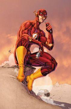 The Flash by Brett Booth & Andrew Dalhouse Marvel Comics, Flash Comics, Arte Dc Comics, Hq Marvel, Brett Booth, Univers Dc, Kid Flash, Flash Art, Superhero Villains