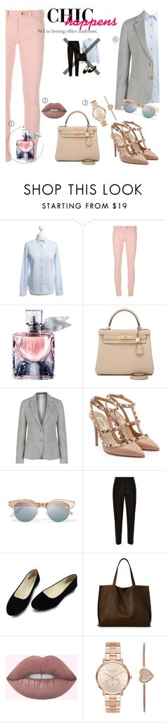 """033"" by darikatarika ❤ liked on Polyvore featuring Etro, Balenciaga, Lancôme, Hermès, GANT, Valentino, Le Specs, Jaeger, Street Level and Michael Kors"