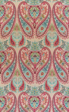 A Collection of the finest fabric and wallpaper designs from Osborne and Little. Exquisite designer fabrics, wallpaper, cushions, trimmings and accessories. Motif Paisley, Paisley Fabric, Paisley Design, Paisley Pattern, Paisley Print, Paisley Wallpaper, Fabric Wallpaper, Of Wallpaper, Pattern Wallpaper