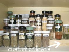 I MUST make this easy, DIY, spice organizer ASAP!  Love the labels, too.