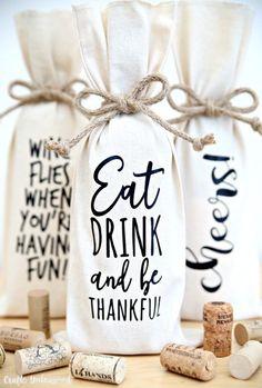 Wine Bottle Gift, Bottle Bag, Wine Bottle Crafts, Wine Gifts, Wine Gift Bags, Wine Bottles, Bottle Carrier, Wine Corks, Beer Bottle