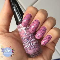 Olá lindonas, tudo bem???     Hoje as unhas estão com o esmalte Rosa Deslumbrante - Coleção Fantastic Glitter's  da marca L'apogée  ele é...