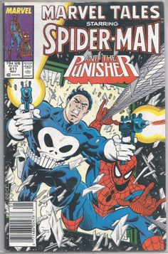 1988 Marvel TALES SPIDER-MAN #211 & THE PUNISHER News Stand Edit Free S/H USA!