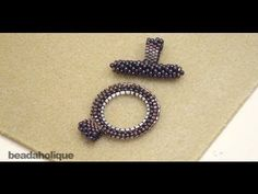 How to Bead Weave a Toggle Clasp - YouTube