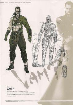 Vamp from Metal Gear Solid 4 by Yoji Shinkawa