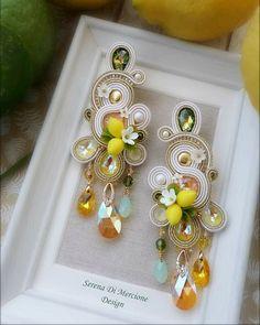 Tatting Earrings, Soutache Necklace, Ring Earrings, Pearl Earrings, Indian Jewelry Earrings, Boho Jewelry, Fashion Jewelry, Jewellery, Shibori