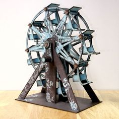 3D Turning Ferris Wheel Kit - Mechanical Papercrafts would love to buy this kit.