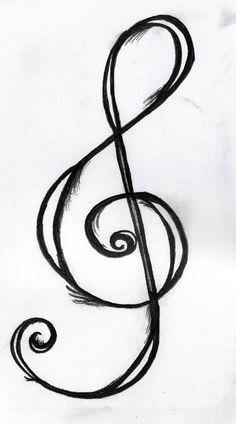 Treble Clef Tattoo Design by PerceptionInPrint.deviantart.com on @deviantART