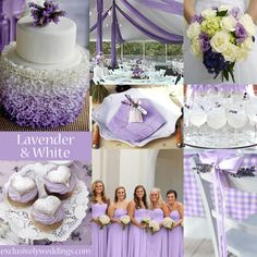 Lavender and White Wedding Colors | #exclusivelyweddings LOVE LOVE LOVE LOVE!!!!