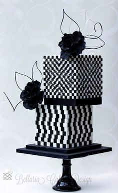 modern black and white wedding cake ~ we ❤ this! moncheribridals.com