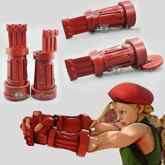 Who would appear first in your mind if we mention female fighters in games?  Well, now we are presenting Cammy from Street Fighter V. We have completed her gloves, take a look at the end product. Also we will soon provide the making process, keep follow us.