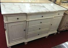 "60"" single sink bathroom vanity whitewash cabinet with white marble"