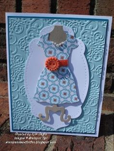 Stamp and Sew For Fun - Dress Up Framelit by Stampin' Up! Love the pearls.