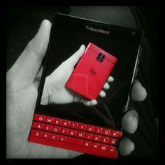 Blackberry Passport Red The sexy beast has arrived! Blackberry Passport, Blackberry 10, B & B, Gadgets, Phone, Creative, Instagram Posts, Keyboard, Beast