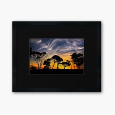 Tree Silhouette Sunset Nature Ideas For 2019 Storm Pictures, Dark Tree, Pine Tree Tattoo, Picture Tree, Tree Silhouette, Nature Paintings, Landscape Art, Framed Art Prints, Nature Photography