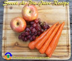 This juice recipe really is as Sweet As Pie! A delicious and nutritious recipe that's great for beginners to juicing.   #juicing #juicingrecipes