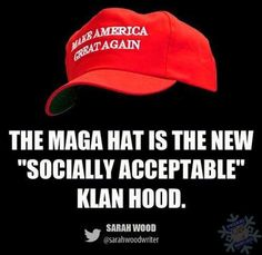 Image result for kkk hood with campaign button