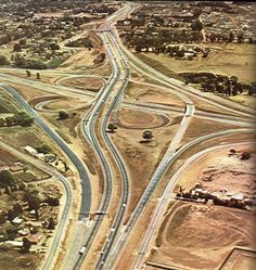 Gillooley Interchange 1969. Johannesburg City, Amazing Places On Earth, Places To See, South Africa, Landscape Photography, City Photo, African, Building Bridges, Pretoria