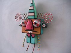 Little Wall Nut 3, Original Found Object Sculpture, Wood Carving, Wall Art, by Fig Jam Studio