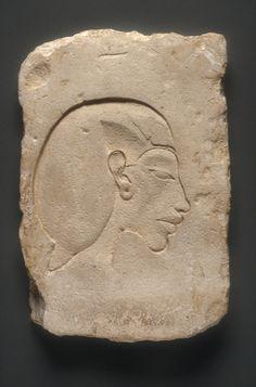 Sculptor's model of the head of Akhenaten, New Kingdom, Dynasty 18, reign of Akhenaten, c. 1349 - 1336 BCE
