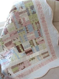 Sweetpea quilt. interesting to have the scallops with geometric.