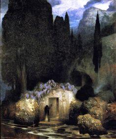 Le Prince Lointain: Arnold Böcklin (1827-1901), Le Bois Sacré – 1882.