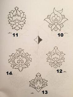 illumination flowers - Tattoo Thinks Islamic Motifs, Islamic Art Pattern, Pattern Art, Persian Pattern, Persian Motifs, Hand Embroidery Designs, Embroidery Patterns, Illumination Art, Arte Tribal