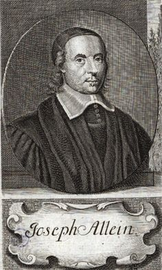 """Joseph Allein was baptised on April 8, 1634 in Devizes, England and died on November 17, 1668 (age 34) in England.  Joseph said, """"If I should died fifty miles away, let me be buried at Taunton."""""""