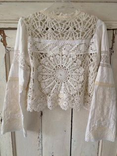 Great way to use up some lace!