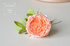 Excited to share the latest addition to my #etsy shop: Peach Rose hair pin Wedding Flower Vintage style Bohemian Accessories Boho chic Rustic Bride Flower hairpiece Gift for women romantic gift