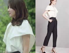 """Han Groo in """"Marriage, Not Dating"""" Episode 1.  Kosoyoung White Blouse #Kdrama #MarriageNotDating #연애말고결혼 #HanGroo #한그루"""