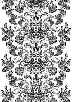 Vallila Interior 140 x 240 cm 83 Percent Cotton/ 17 Percent Polyester Syvämeri… Home Textile, Textile Design, Unique Curtains, Scandinavian Interior Design, Gold Embroidery, Shop Interiors, Cushion Covers, Textures Patterns, Colorful Rugs