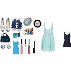 blue, created by drue-young.polyvore.com