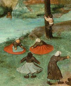 Pieter Bruegel the Elder, 1560 Detail from Children's Games, Large Painting, Artist Painting, Pieter Brueghel El Viejo, Pieter Bruegel The Elder, Dream Pictures, Renaissance Paintings, Dutch Painters, Art History, Fine Art