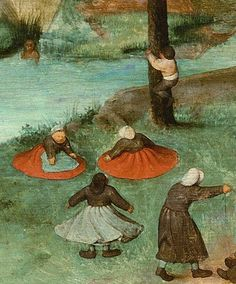 Click on the image to see the detail in a zoomable context. Detail from Children's Games, Pieter Bruegel the Elder, 1560