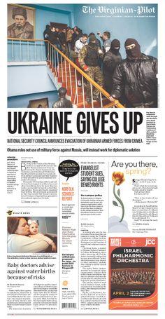 "Norfolk's Virginian-Pilot on Crimea: ""UKRAINE GIVES UP"""