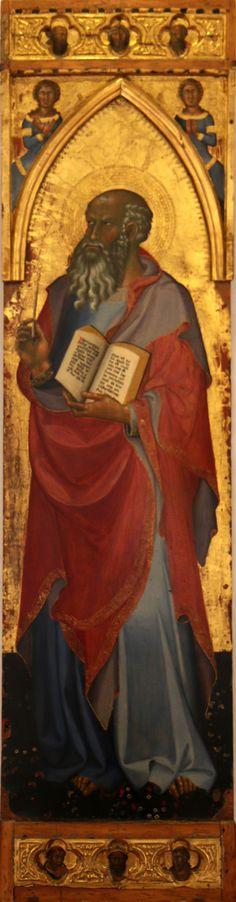 Bartolo di Fredi - San Giovanni Evangelista - 1415 - Tempera su tavola, oro macinato - Musée du Petit Palais, Avignone