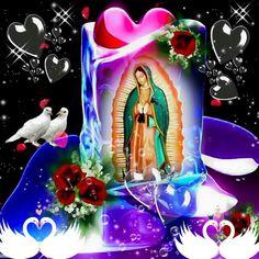 Pin by Lena Cruz on Catholicism Mary Jesus Mother, Blessed Mother Mary, Mary And Jesus, Blessed Virgin Mary, Virgin Mary Painting, Virgin Mary Art, Jesus And Mary Pictures, Angel Pictures, Good Morning Gif Disney