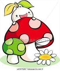 semente no cogumelo