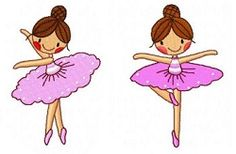 Ten Little Ballerinas Set - 4x4 | What's New | Machine Embroidery Designs | SWAKembroidery.com