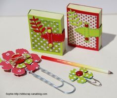 DIY beautiful Mini Post-it = gift idea - Mini Post-it à décorer = petits cadeaux sympas