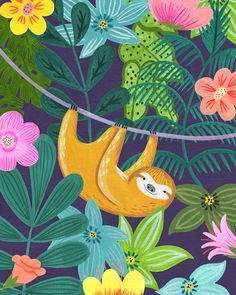 A blog that celebrates the world of pattern design. Covering greetings cards, wrap, fabrics, wallpaper, stationery and more. Animal Sketches, Animal Drawings, Art Drawings, Jungle Art, Jungle Animals, Rainforest Animals, Character Illustration, Illustration Art, Tropical Animals