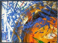 ELIPSE...Cartulina acrílica pintada 30x40cm